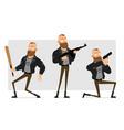 cartoon punk hooligan boy character set vector image vector image