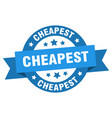 cheapest ribbon cheapest round blue sign cheapest vector image vector image
