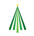 christmas tree on white background vector image vector image