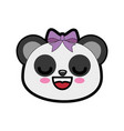 cute bear kawaii cartoon vector image