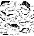 cute dinosaurs seamless pattern vector image vector image
