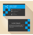 dark gray and blue simple business card design vector image vector image