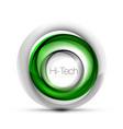 digital techno sphere web banner button or icon vector image vector image