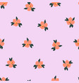 ditsy pansy flowers seamless pattern vector image vector image