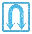 Double Back Arrow Icon Rubber Stamp vector image vector image