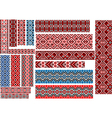 Ethnic Patterns for Embroidery Stitch vector image vector image