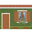 green wall door and window380400 vector image