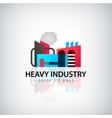 heavy industry building logo icon vector image vector image