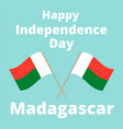 independence day of madagascar vector image vector image
