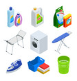 isometric laundry service elements set vector image vector image