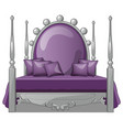 large comfortable bed in vintage style isolated on vector image vector image