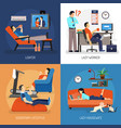 lazy people compositions vector image vector image
