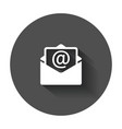 mail envelope icon symbols of email flat with vector image vector image