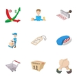 Marketing store icons set cartoon style vector image vector image