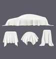 object covered silk tablecloths satin textile vector image vector image
