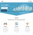 One page website design with city header