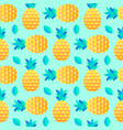 pattern with pineapples and leaves vector image