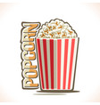 poster for popcorn vector image
