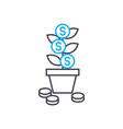 profit growth thin line stroke icon profit vector image