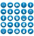 sea shell icons set vetor blue vector image