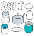 set of salt vector image