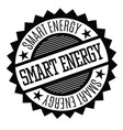smart energy stamp on white vector image vector image