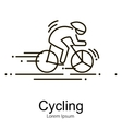 Sport bike and rider icon thin line vector image vector image