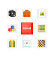 square objects for children vector image