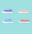 summer travel cruise vector image