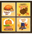 thanksgiving day cards vector image vector image