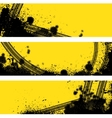 Three tire track banner vector image vector image