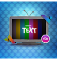 TV box with empty screen vector image vector image