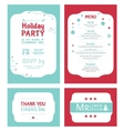Winter Holiday Party Invitation Set Light vector image vector image