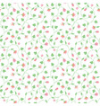 seamless floral pattern with tiny pink flowers vector image