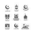 arabic muslim logo set islamic spiritual vector image