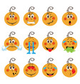 baby boy emojis set of emoticons icons isolated vector image