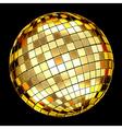 golden mosaic ball vector image