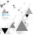 abstract black and gray triangle composition vector image vector image