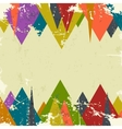 Abstract grunge background with triangles vector image vector image