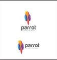 abstract parrot bird logo design creative sign c vector image vector image
