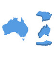 australia isometric map country isolated on a vector image