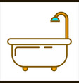 bath with shower vector image