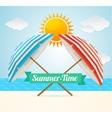 Beach Umbrella Summer Card vector image vector image