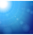 blue sunny background vector image