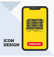 book education lesson study glyph icon in mobile vector image