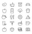 Breakfast Icons Line vector image