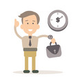 businessman in flat style vector image vector image