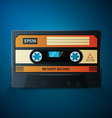 close up of vintage audio tape vector image vector image