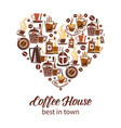 coffee house design vector image vector image
