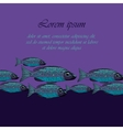 Dark Blue background with fishesSeafood vector image vector image